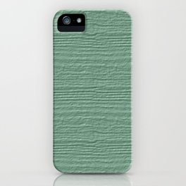 Grayed Jade Wood Grain Color Accent iPhone Case
