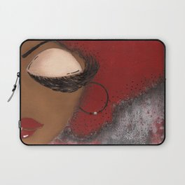 Crimson and Cream Sassy Girl Laptop Sleeve
