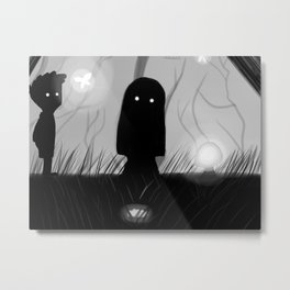 Lila - Limbo Video Game Illustration Metal Print