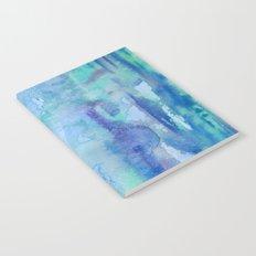 Watercolor Blue Notebook