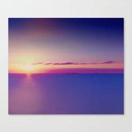 Sunset on the Atlantic Ocean Canvas Print