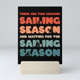 Sailor Sailing Nautical Boating Captain Mini Art Print
