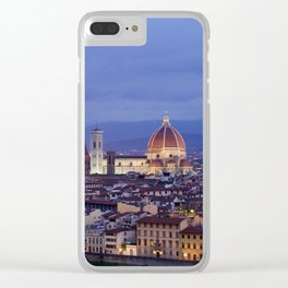 Florence Duomo At Night Clear iPhone Case