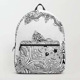 Stars and Stripes - Patriotic Mandala - Black and White - 'Merica! Backpack