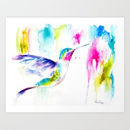 Colorful Hummingbird Art Print