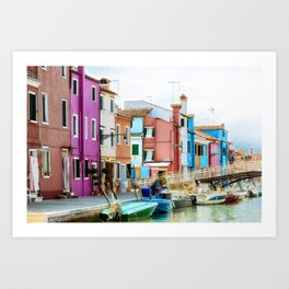 Corte Novello, Burano, Italy Art Print