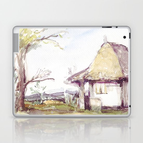 Romanian watercolor Laptop & iPad Skin