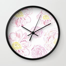 Abstract Flowers #society6 #buyart Wall Clock
