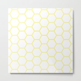 Honeycomb Yellow #164 Metal Print
