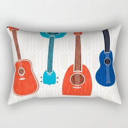 Americana Guitars ~ Mid Century Pop Art Rectangular Pillow