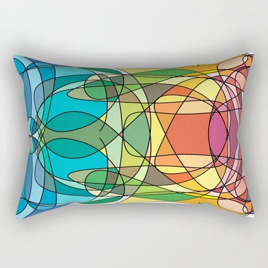 Abstract Curves #4 - Butter Fly Rectangular Pillow