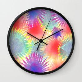 Joyful palm leaves Wall Clock