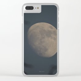 Moon at Three-Quarters Clear iPhone Case