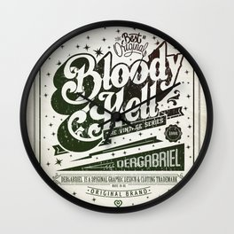 Bloody Hell Wall Clock