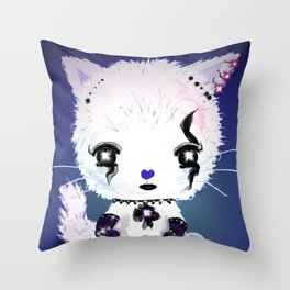 Punky Persian - Dark Blue Throw Pillow