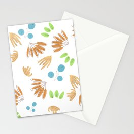 abstract minimal fall flora Stationery Cards