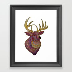 Darling, Detailed Deer Framed Art Print