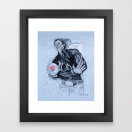big ern mccracken- KINGPIN Framed Art Print