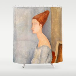 "Amedeo Modigliani ""Portrait of Jeanne Hébuterne"" Shower Curtain"