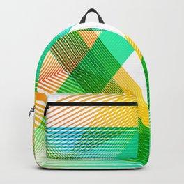 Geometric Grenn yellow triangles Summer Backpack