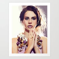 lana Art Prints featuring Lana by MartaDeWinter