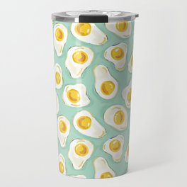 fried egg eggs sunny side up cute food pattern Travel Mug