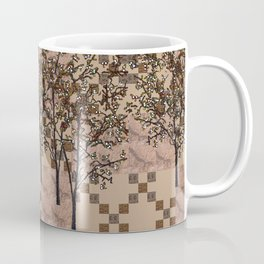 white blossom on nougat Coffee Mug