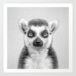 Lemur 2 - Black & White Art Print
