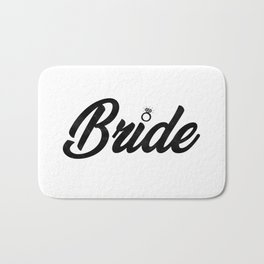 Funny Bride To Be Bridesmaid Bridal Party Gift Bath Mat