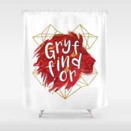 Gryffindor Gold Splatter Shower Curtain