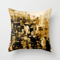 chicago Throw Pillows featuring Chicago by DM Davis