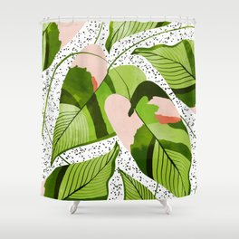 Blushing Leaves #illustration #painting Shower Curtain