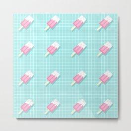 Popsicle Over Grid Lines Metal Print
