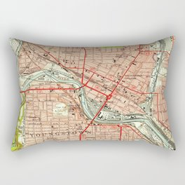 Vintage Map of Youngstown Ohio (1951) Rectangular Pillow