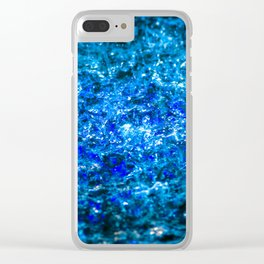 Water Color - Dark Blue - Navy Clear iPhone Case