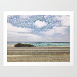 Cliffside Mosaic Art Print