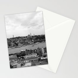 Istanbul city photography in black and white Stationery Cards