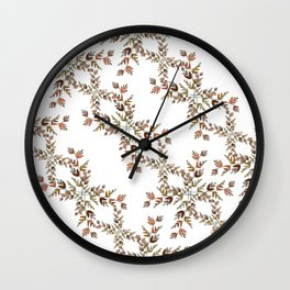 Elegant lace autumn pattern Wall Clock