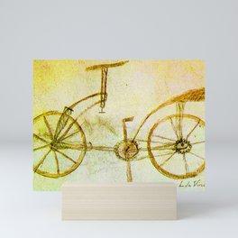 Da Vinci Inventions First bicycle sketch By Da Vinci Mini Art Print