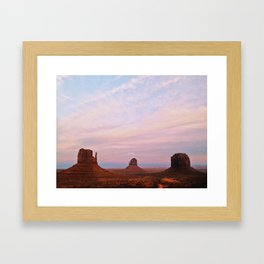 Monument Valley Sunset Framed Art Print