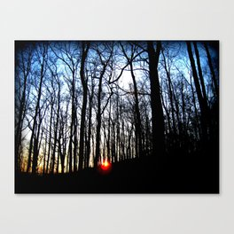 Haunted Sunsets Canvas Print