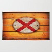 alabama Area & Throw Rugs featuring Alabama flag. by DesignAstur