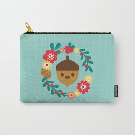 Acorn and Flowers Carry-All Pouch