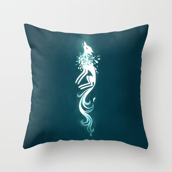 Light Fox Throw Pillow