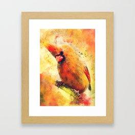 Cardinal bird #cardinal #bird #animals Framed Art Print