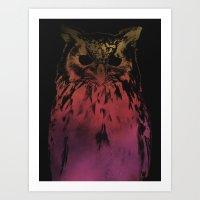 hedwig Art Prints featuring Hedwig by Erik Sandi Satresa