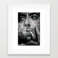 robert downey jr Framed Art Prints featuring Robert Downey JR by Luna Perri
