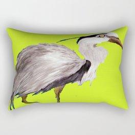 Lime Heron Rectangular Pillow