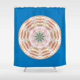 Hypnotized by my own Eyes Healing Mandala Shower Curtain