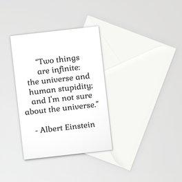 Albert Einstein QUOTE Stationery Cards